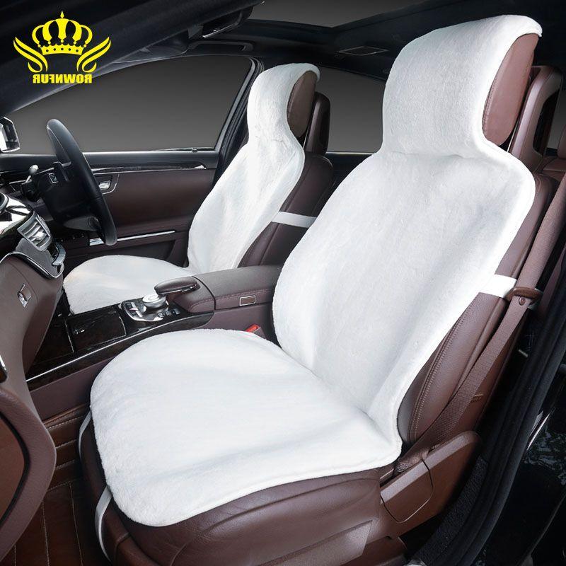 2 ШТ пререднее сиденье Меховые накидки на сиденья автомобиля премиум-класса искусственный мех под стриженный мутон 5 цветов чехол на сидень...
