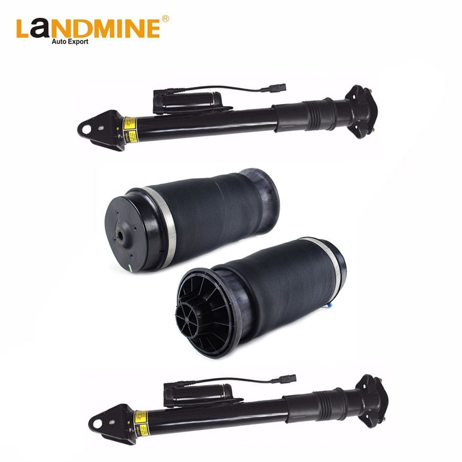 New Free Shipping Mercedes X164 W164 ML ML320 Rear Air Shock 2pcs With ADS And 2pcs Air Spring Air Ride 1643203031 1643200625