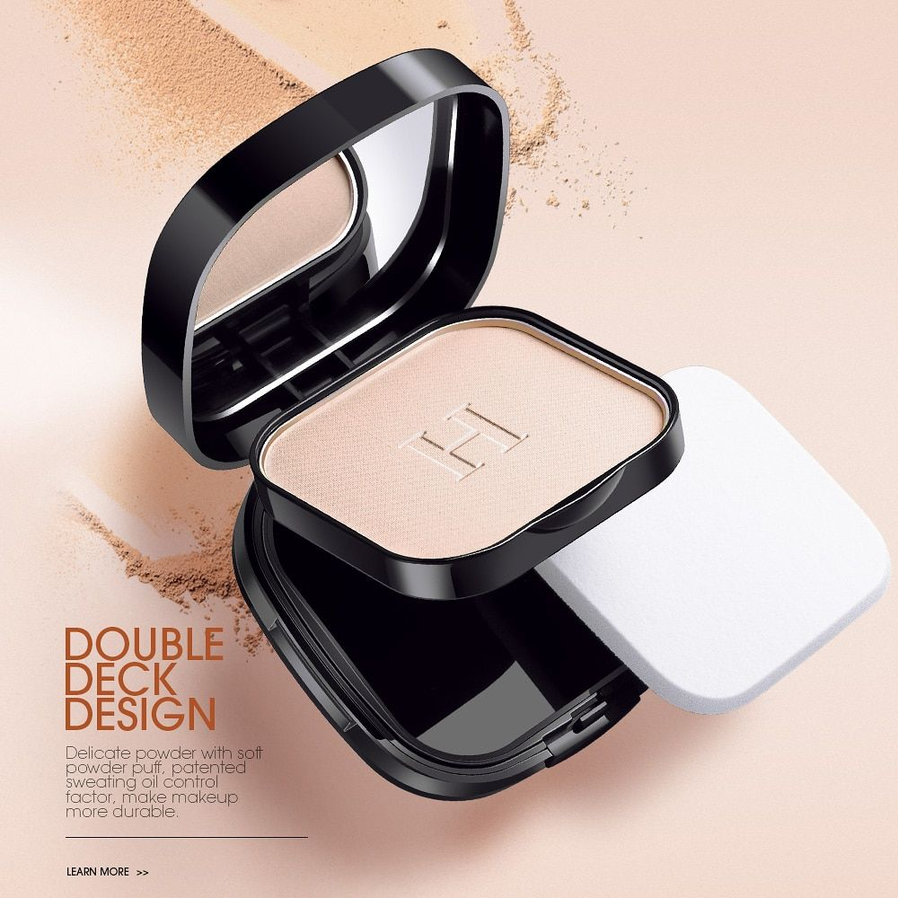 HENLICS Super Waterproof Pressed Powder Face Contour Makeup <font><b>Mineral</b></font> Powder Foundation with Oil-control Functions