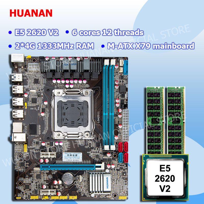 New arrival HUANAN ZHI X79 motherboard CPU memory combos CPU Intel Xeon E5 2620 V2 SR1AN RAM 2*4G DDR3 REG ECC all good tested