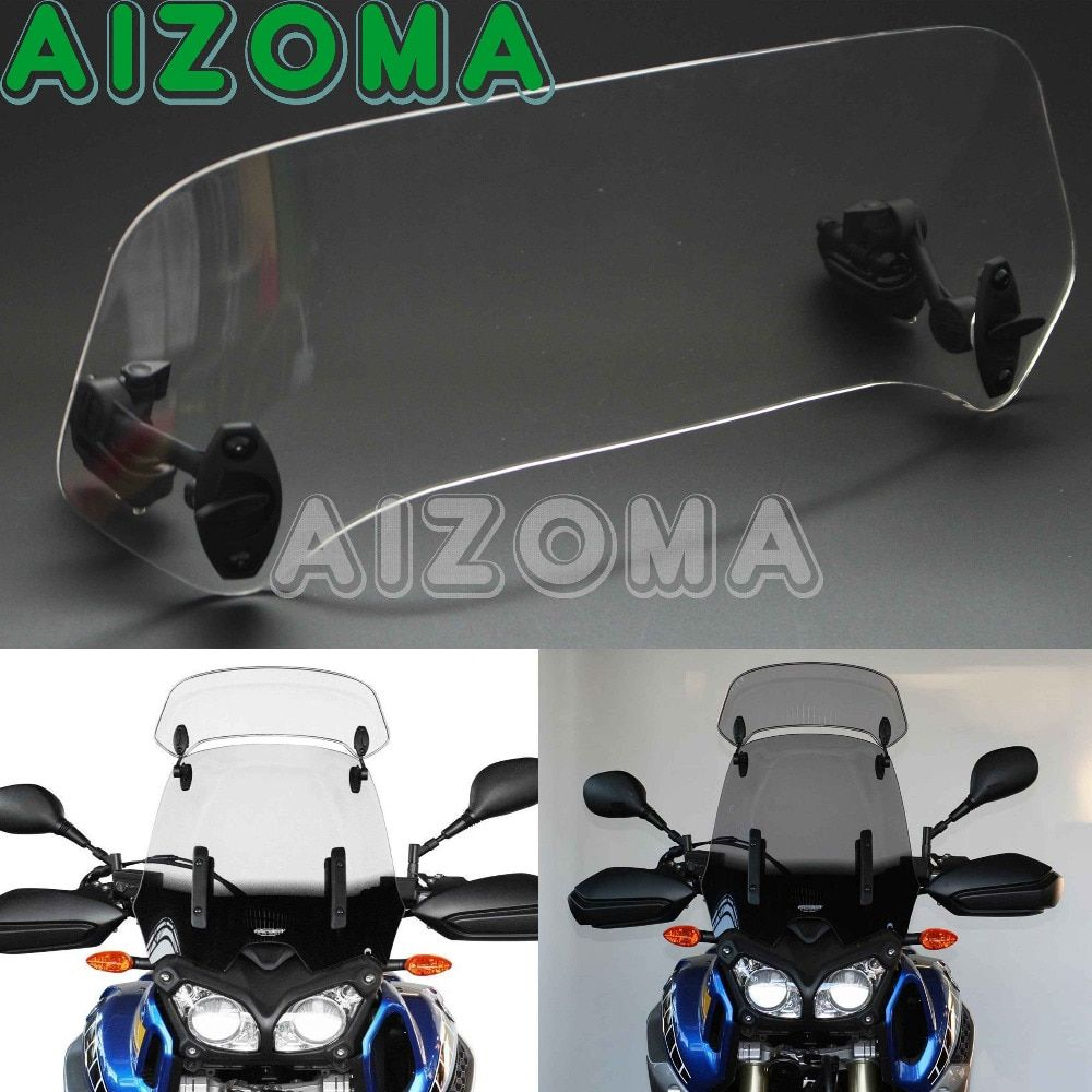 Universal Adjustable Clip-On Screen Windscreen Windshield Spoiler Air Deflector Motorcycles Wind Deflector For BMW Honda Triumph