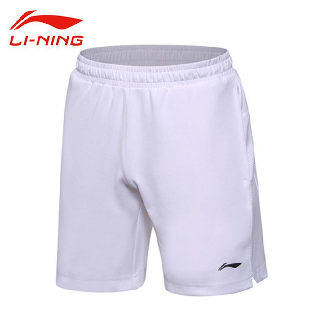 Li Ning Männer Badminton Shorts Wettbewerb Boden BEI Regular Fit Atmungsaktivem Innenfutter Sportbekleidung AAPM149