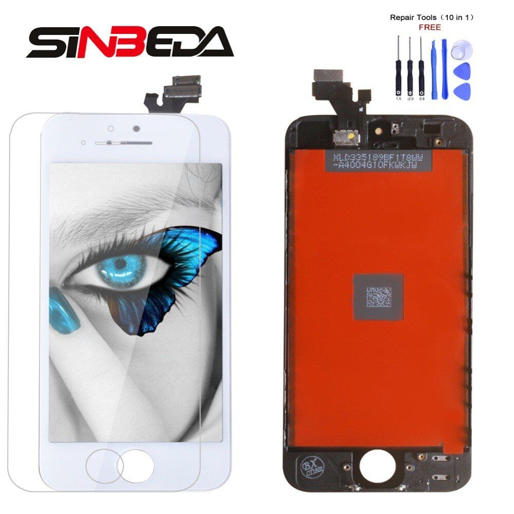 Sinbeda Best Price LCD Screen For iPhone 4 5 5s 5c LCD Display and Touch Screen Digitizer Assembly Replacement LCD Pantalla