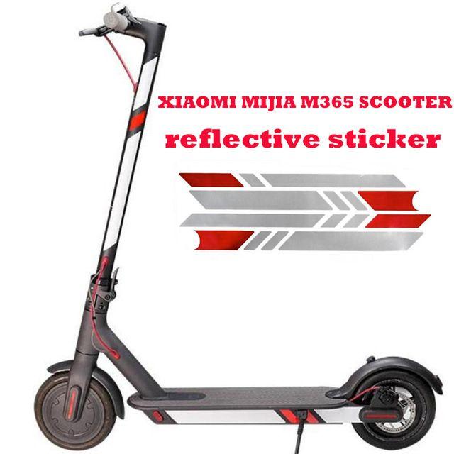 Autocollants réfléchissants pour Xiaomi Mijia M365 Scooter électrique réfléchir les étiquettes de lumière