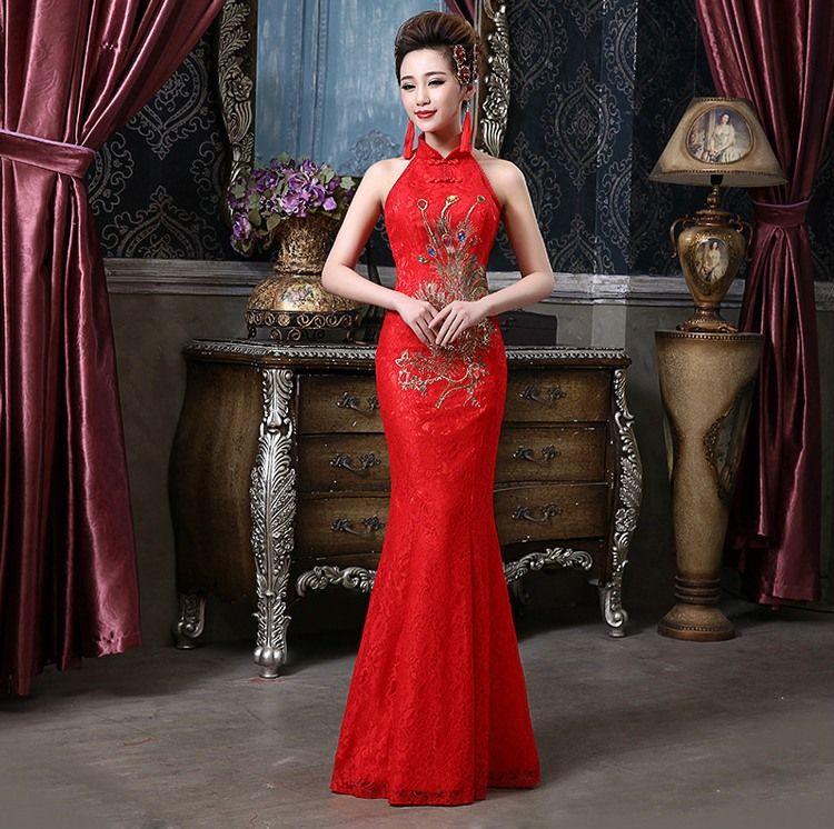 Historia Shanghai Dama de Honor vestidos de sirena de la manera vestido de Boda Chino Cheongsam vestido qipao ropa sexy para mujer