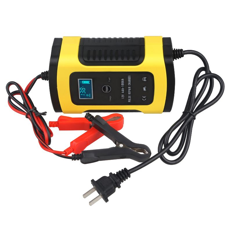 6A 12v Battery Repair Charger Motorcycle Car For Lead Acid Storage Charger Battery Intelligent Auto Pulse Repair 110V To 220V