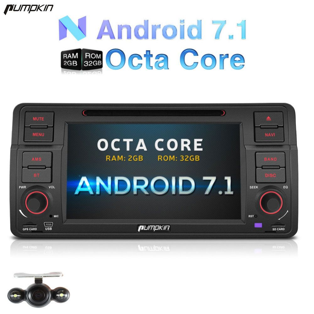 Wholesale!2 Din 7'' Android 7.1 Car DVD Player For BMW E46/M3 GPS Navigation Bluetooth Car Stereo Wifi 3G FM Rds Radio Headunit
