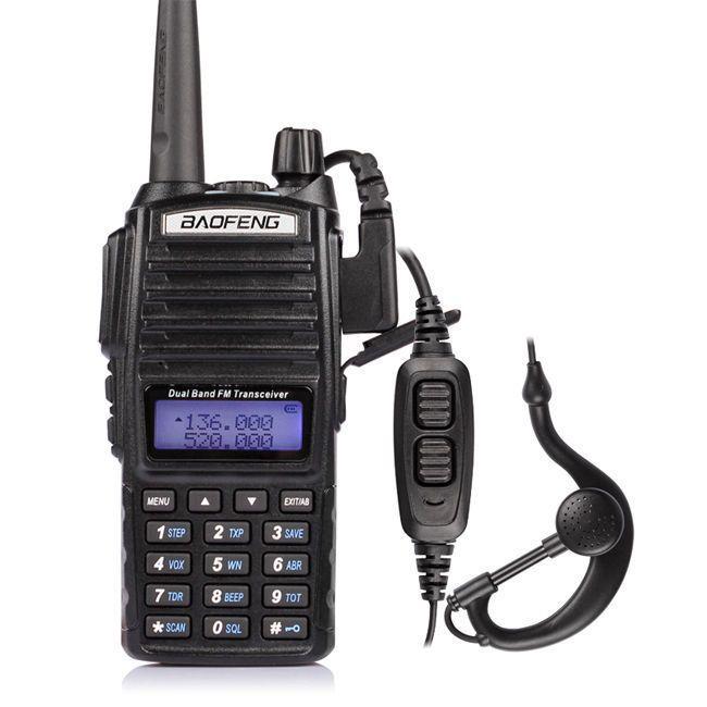 20PCS New Baofeng UV-82 V/U 136-174/400-520MHz FM Ham Two-way Radio Walkie Talkie+headset DHL/FEDEX