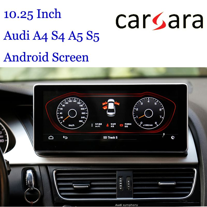 10,25 Au di Steuergerät Android Display für A4 S4 RS4 A5 S5 RS5 8 K 8 T 8R Smart Cockpit touchscreen MP4 MP5 Multimedia DVD Player