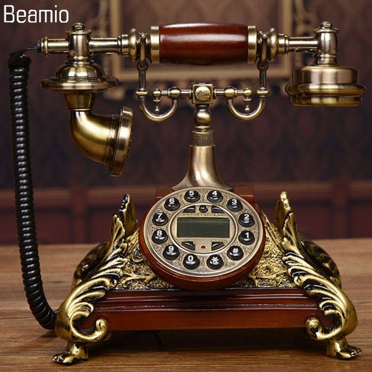 Nouveau Haut de gamme Vintage Antique Téléphones Européenne Téléphone Fixe Téléphone RetroTelephone Telefono Fijo Pour Home Office