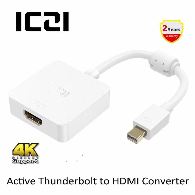 Adaptateur ICZI 4K Mini DP vers HDMI convertisseur passif actif Thunderbolt vers HDMI pour moniteur d'affichage Ultra HD
