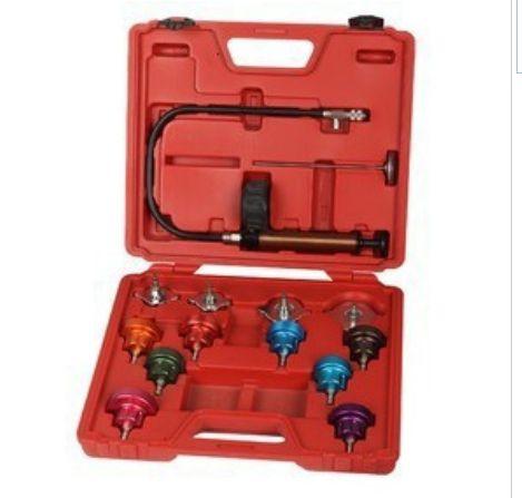 14pcs Car Water Tank leak detector Universal Radiator Pressure Tester Kit Vehicle