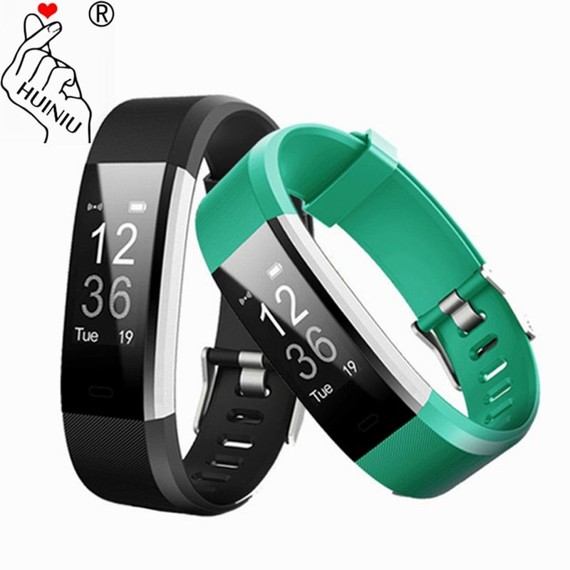 ID115 HR PLUS Smart Bracelet GPS Fitness Tracker Watch Heart Rate Monitor Step Counter Camera Control Wristband PK Fit Bit Band