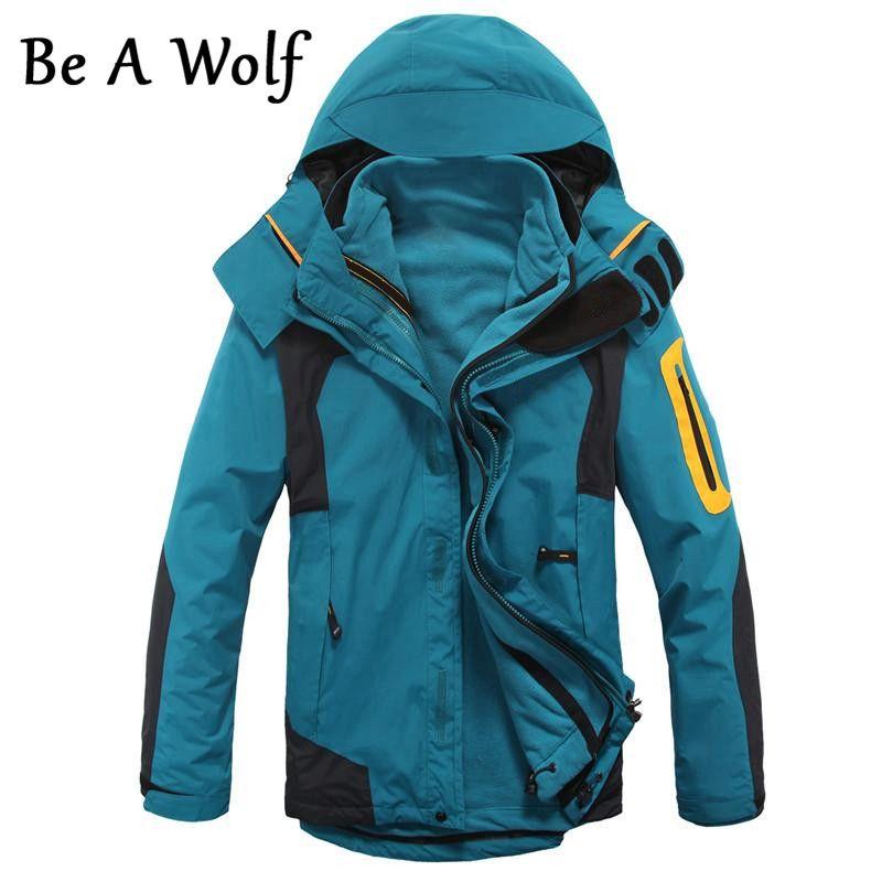 Werden EIN Wolf Wandern Jacke Warme Männer Winter Innere Fleece Wasserdichte Outdoor-Sport-Mantel Camping Trekking Skifahren Jacken Kleidung 28