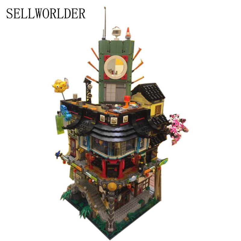Building Bricks Kit Blocks Set 06066 4953pcs Ninja House Model Educational Children Toys