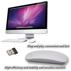 2.4GHz wireless mouse Office game Desktop notebook ultra-thin small mouse