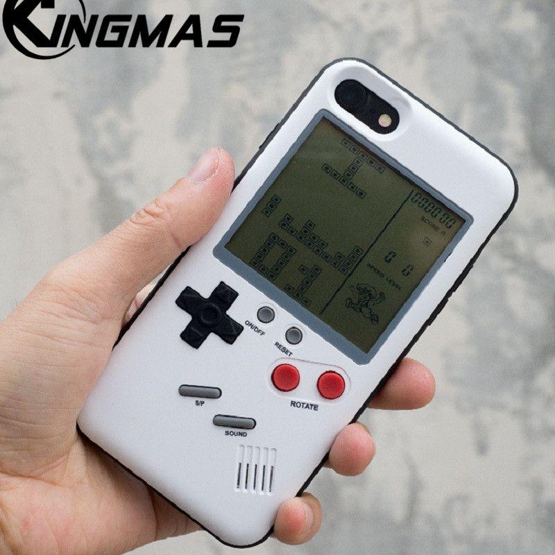 TPU couverture Souple Pour iPhone 6 6 s 6 Plus 6 s Plus 7 Plus 8 Plus iPhone X cas Rétro Nintendo Tetris Gameboy téléphone Pour iPhone 7 cas