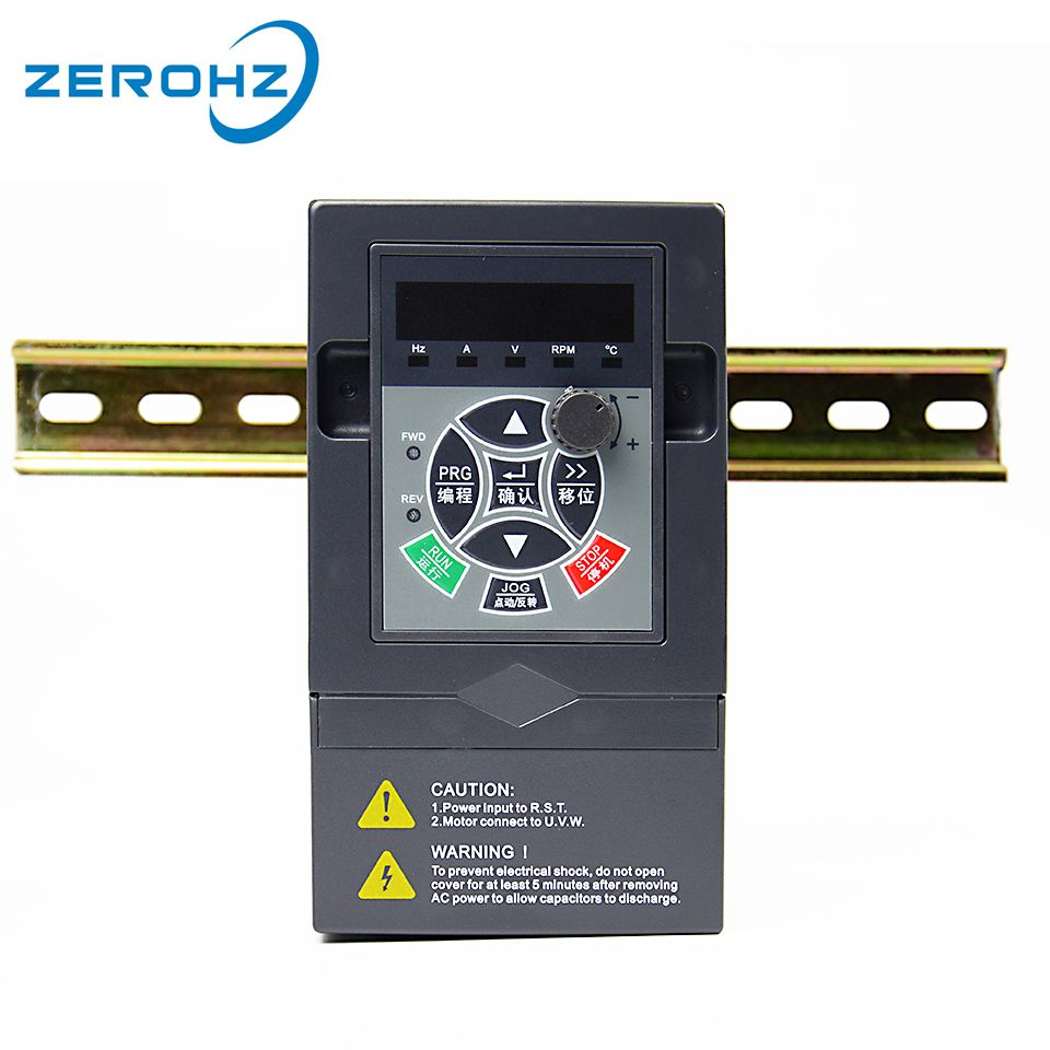 380V 2.2KW 3HP Three Phase Input Output Frequency Converter Inverter Variable Frequency Drive VFD Motor Speed Control 3Phase