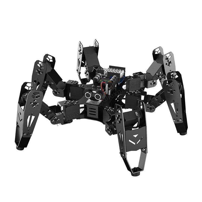18 DOF Aluminium Hexapod Spinne Roboter/Sekundäre Entwicklung Kit bionische spinne programmierbare Bildung Roboter kompatibel Arduino