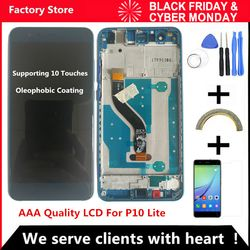 5.2 Inch AAA Quality LCD With Frame For HUAWEI P10 Lite Lcd Display Screen For HUAWEI P10 Lite WAS-LX1 WAS-LX1A WAS-LX2 WAS-LX3