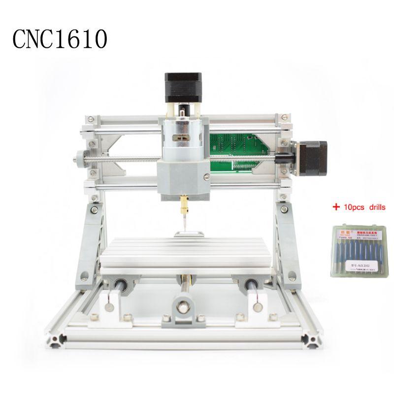 CNC 1610 GRBL control Diy mini CNC machine,working area 16x10x4.5cm,3 Axis Pcb Milling machine,Wood Router,cnc router ,v2.4