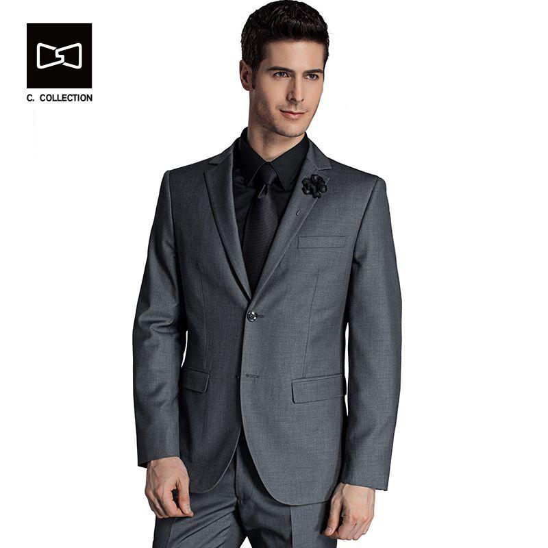 2017 Traje de Negocios Los Hombres Adelgazan los Trajes Masculinos Blazers Traje de Lujo de Los Hombres de Dos Botones 2 Unidades (chaqueta Del Traje + pantalones)