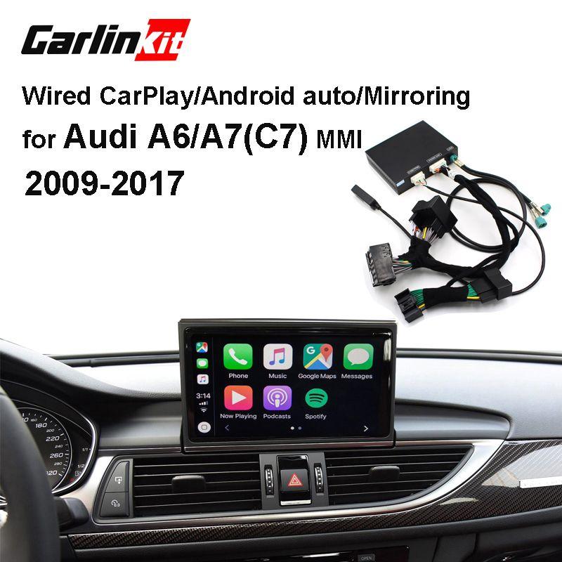 Carlinkit Verdrahtete Apple CarPlay Decoder für Audi A6 A7 (C7) 3G/3G + MMI muItimedia interface CarPlay & Android auto Nachrüstsatz
