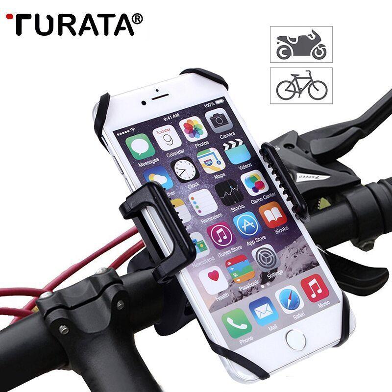 Turata universel vélo vélo Mobile support pour téléphone moto guidon Clip support de montage pour iPhone X Samsung S9 Plus LG