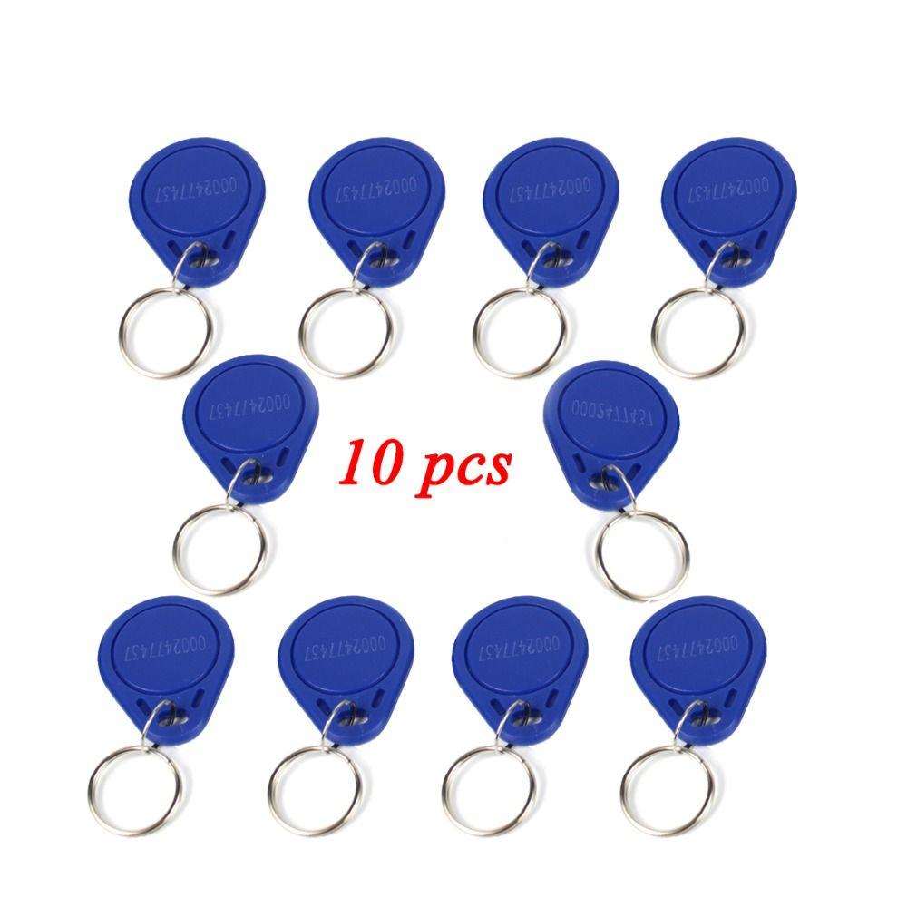 10 stücke Access Control RFID Keyfobs 125 KHz Proximity ID-Token Tag Key Keyfobs Blau Farbe für Tür Access Control system F1661B
