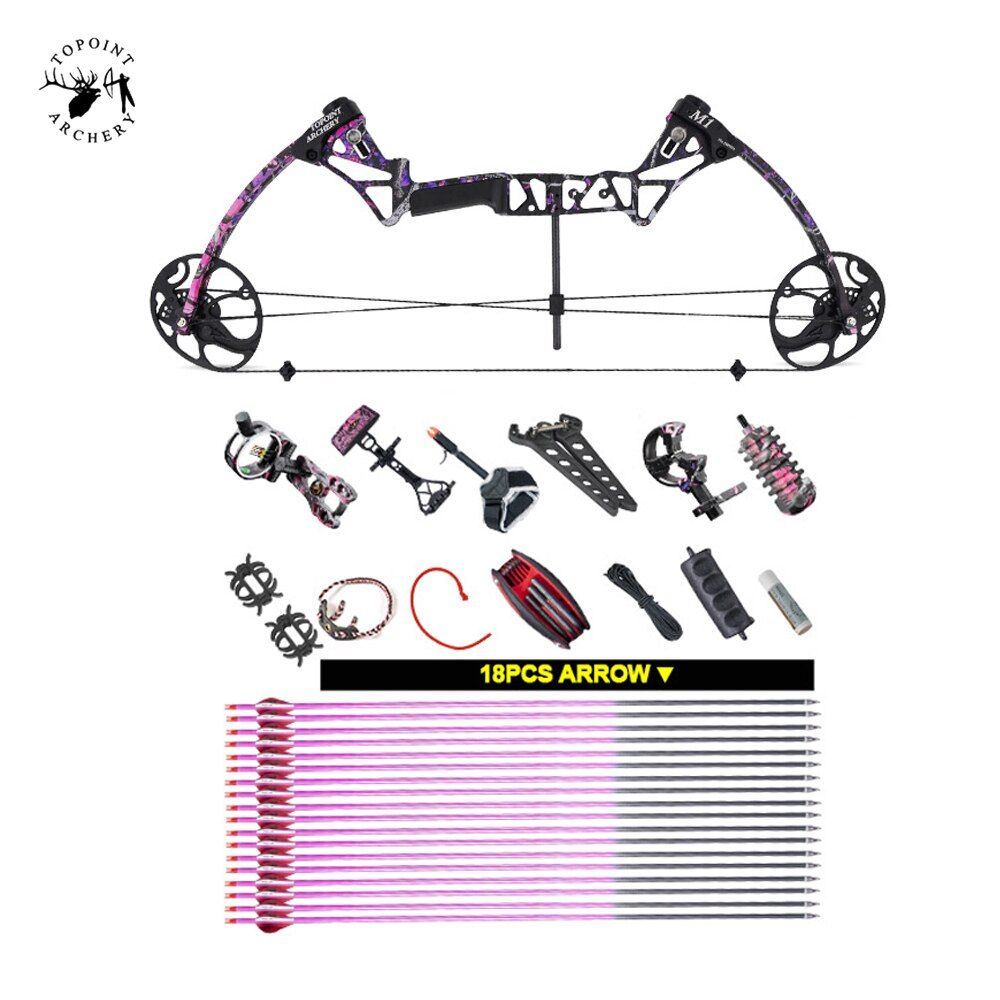 Ship From USA Warehouse Compound Bow Gift for Women, M1,19-30 inch Draw Length,10-50Lbs Draw Weight,LIMBS MADE IN USA