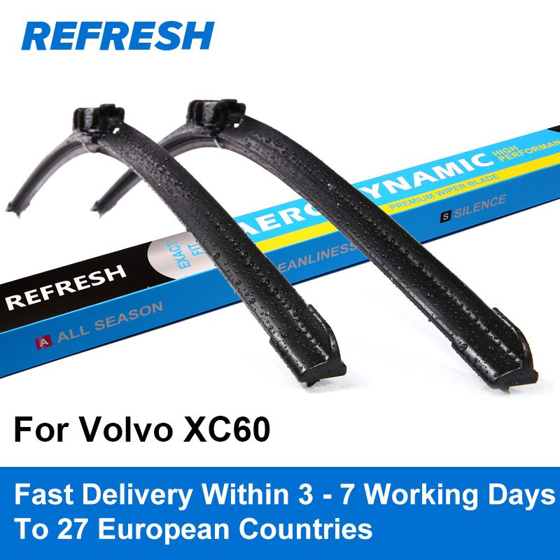 REFRESH Front & Rear Wiper Blades for Volvo XC60 26