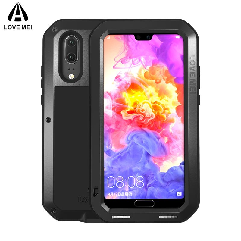 LOVE MEI Metal Shockproof Case For Huawei P20 P20 Pro Cover Aluminum Armor Waterproof Case For Huawei P20 P20 Pro Outdoor Cover