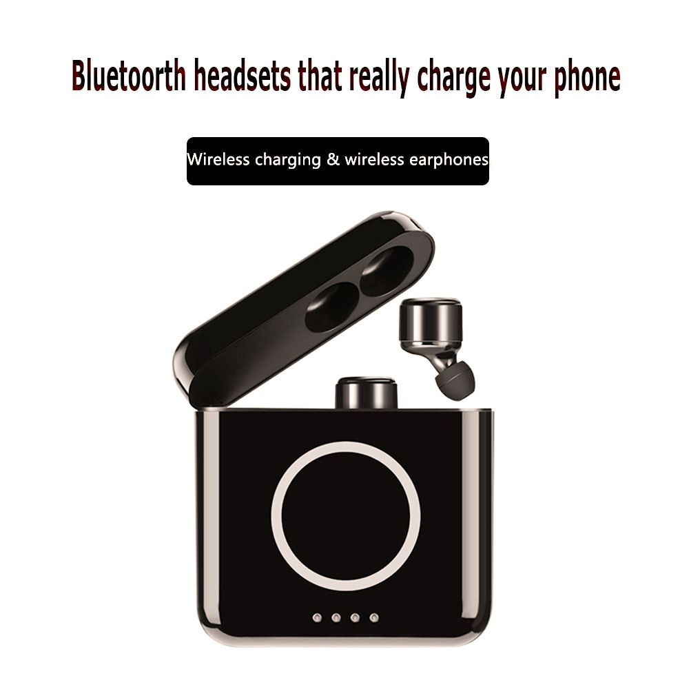 X4T TWS Touch Control Sport HIFI Earbuds Headset Wireless Bluetooth 4.2 Stereo Earbuds charege 5200mah Mic for Iphone Android