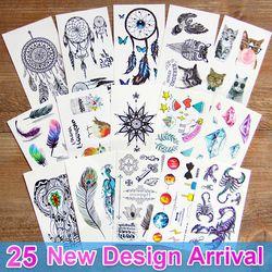 3d dream catcher  Waterproof Temporary Tattoos dreamcatcher flash Tattoo stickers body art for women transferable fake tattoo