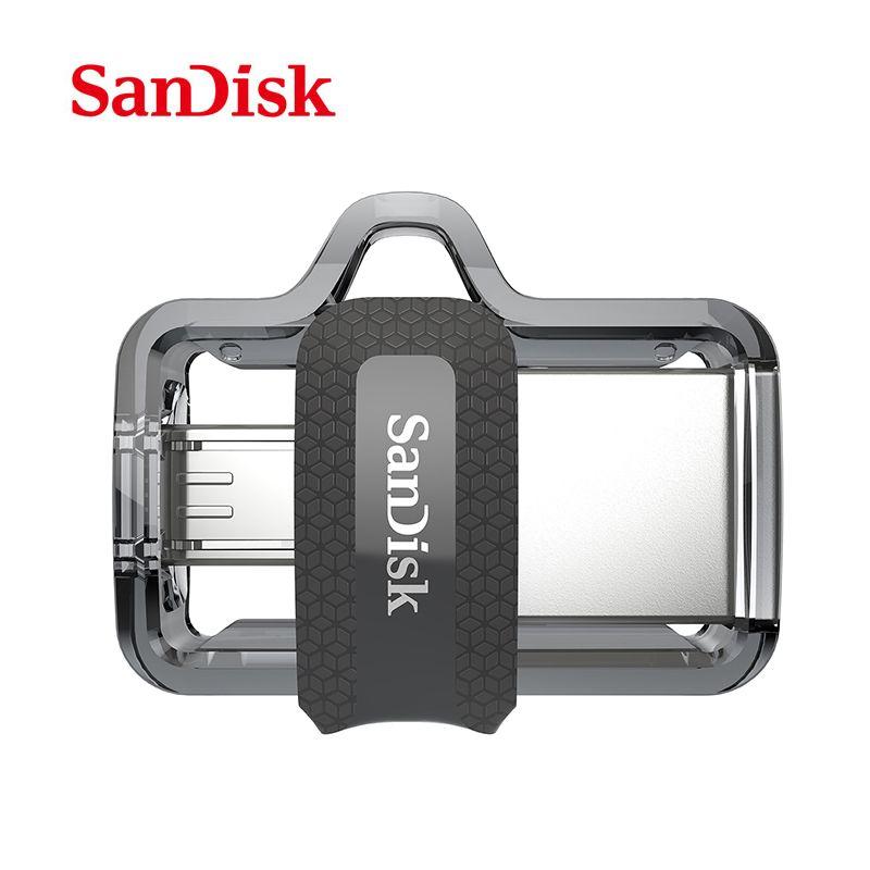 original SanDisk USB 3.0 pen Drive Ultra Dual OTG usb flash drive SDD3 16gb 32gb 64gb pendrive for all Android phone/table PC