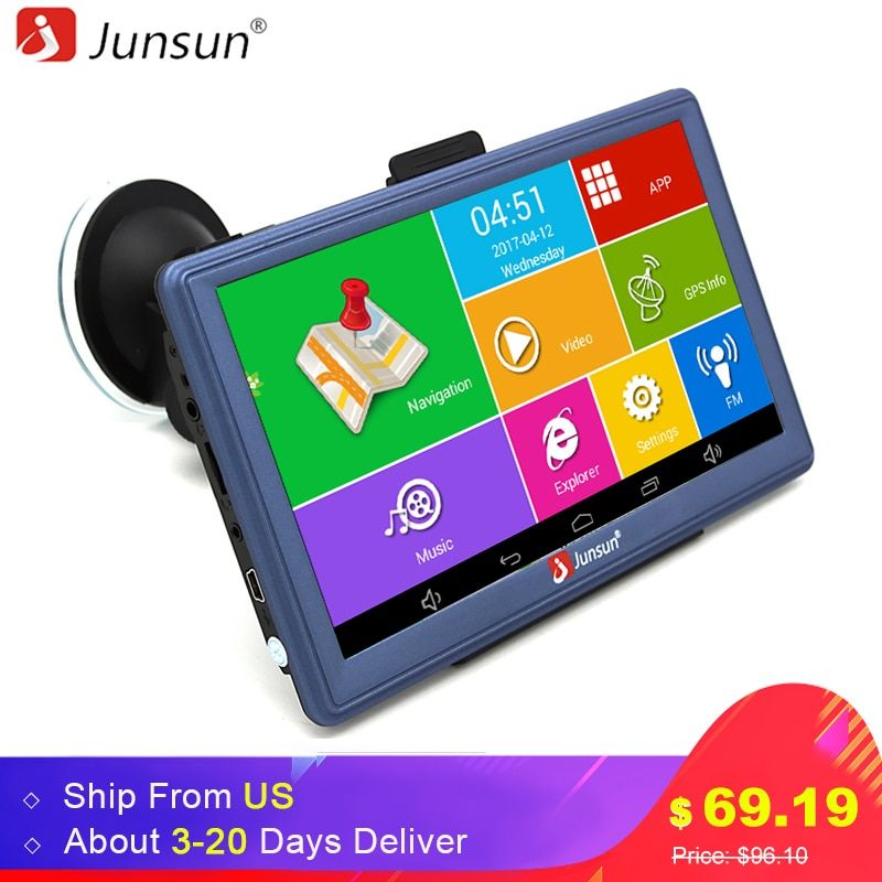 Junsun 7 inch Car GPS Navigation Android Bluetooth WIFI Truck Vehicle gps auto navigators sat nav Russia /Europe free map