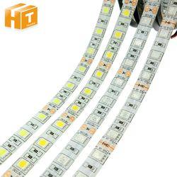 Светодиодные ленты 5050 DC12V 60 Светодиодный s/m гибкий светодиодный свет RGB/RGBW 5050 Светодиодные ленты 300 светодиодный s 5 м/лот