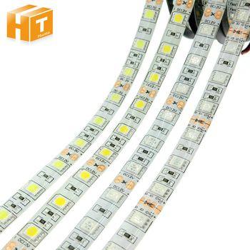 Светодиодные ленты 5050 DC12V 60 Светодиодный s/m 5 м/лот гибкий светодиодный свет RGB RGBW 5050 Светодиодные ленты