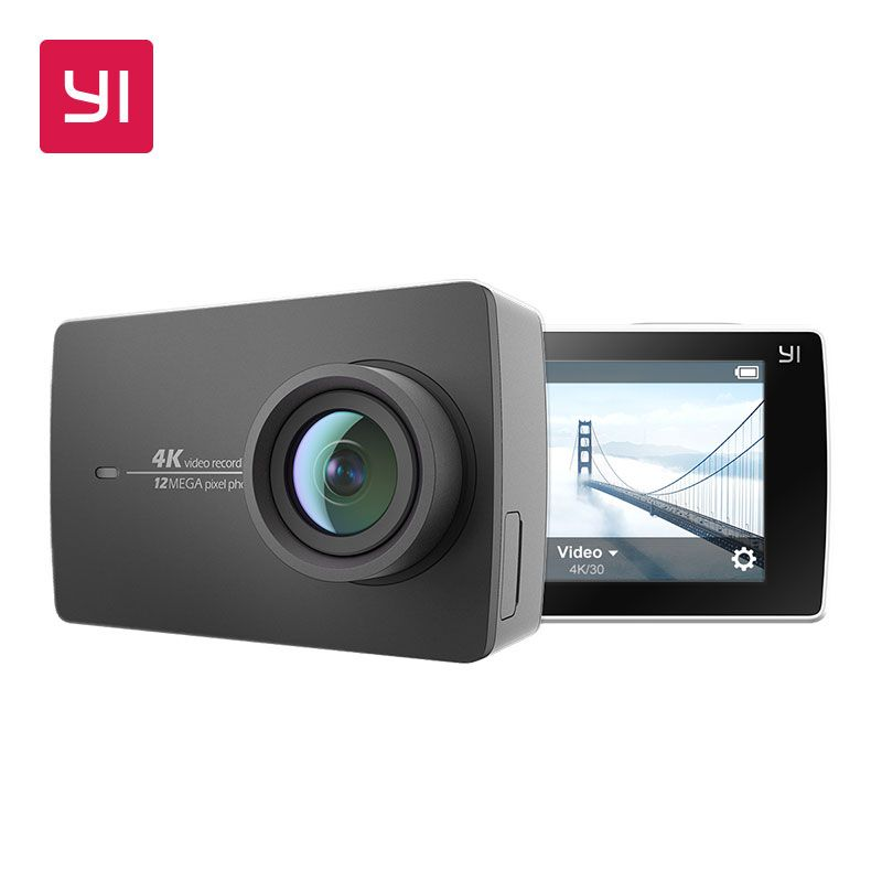 YI 4K Action Camera 2.19LCD 4K/30fps Tough Screen 155 Degree EIS Wifi Black International Edition Ambarella A9SE75 12MP CMOS