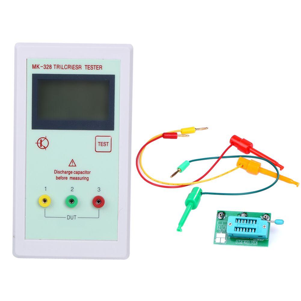 Portable MK328 128*64 LCD Backlight Transistor Tester Diode Inductance Capacitance ESR Meter MOS/PNP/NPN L/C/R Testing