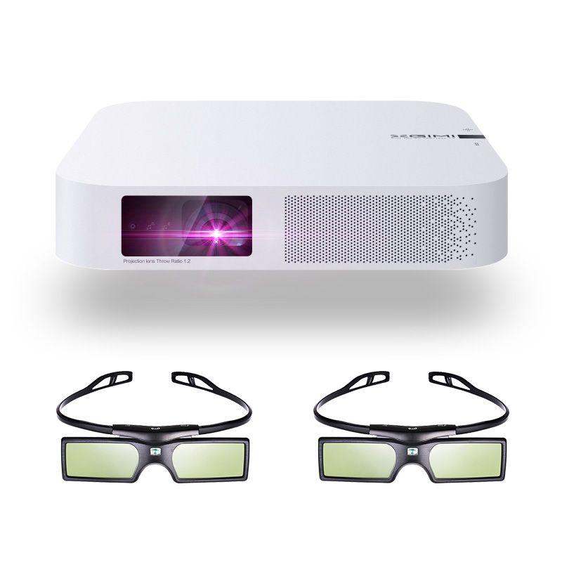 XGIMI Z6 Polar 3D DLP Projektor 700 ANSI lumen Native 1080 p Unterstützung 4 karat Tragbare Wifi Bluetooth Smart Home theater + 3D Gläser