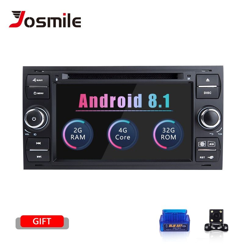 Android 8.1 2 din Auto Radio GPS DVD Für Ford Focus 2 Ford Fiesta Mondeo 4 C-Max S- max Fusion Transit Kuga Multimedia Navigation