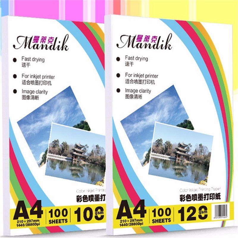 100 feuilles 108g 128g A3 A4 Seul Côté Mat Photo Papier pour Imprimantes Jet D'encre Couleur