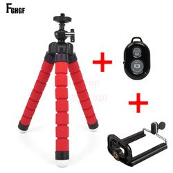 FGHGF Universal Car Mini Flexible Tripod+Bluetooth Remote Shutter For iPhone Mini Portable Selfie phone Stand Clip for redmi 4X