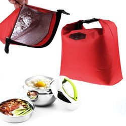 Waterproof Thermal Cooler Insulated Lunch Bags Portable Tote Storage Picnic Bags School Office Food Lunch Bags