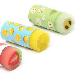 Творческий ластики в виде фруктов мультфильм милые ластики детский подарок школьные канцелярские и офисные принадлежности