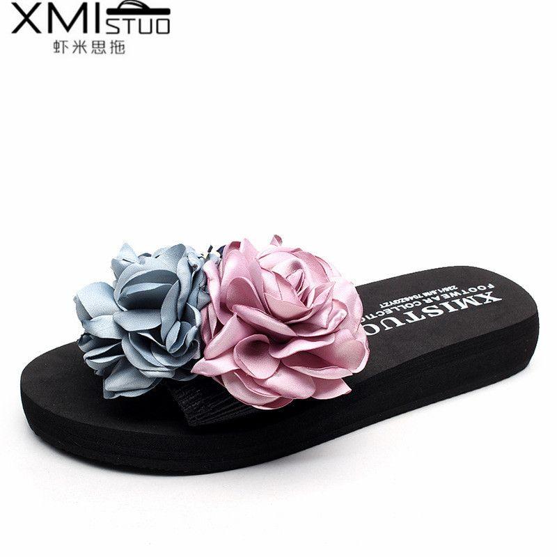 Women Slippers Summer Sandals Flowers Sandals Women Summer Casual Beach Sandals Ladies flip flops