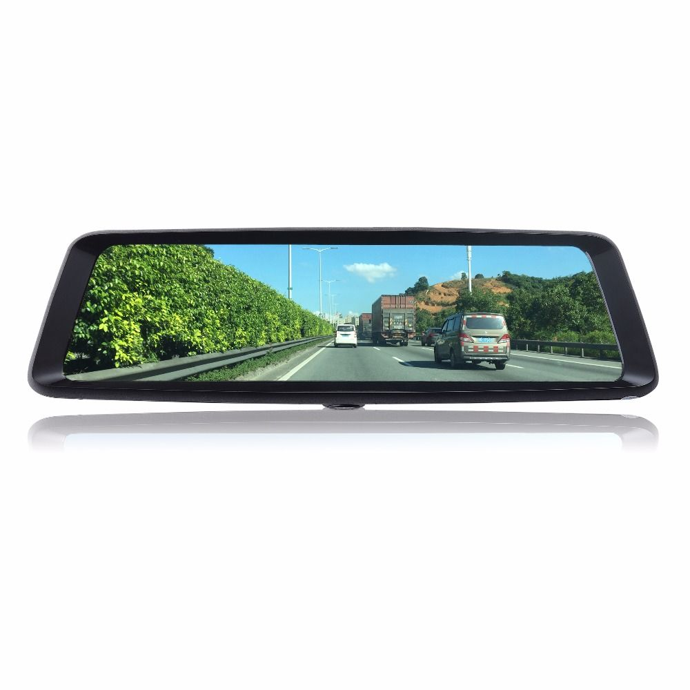 Otstrive 10 inch Streaming Video Recorder Dual Lens Full HD 1080P 24 hours DVR Rear View Mirror Motion Detect Dash Camera DVR