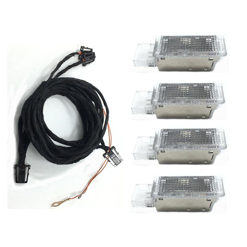 1Set OEM Original for Footwell Light For Golf 6 Jetta MK5 MK6 Tiguan Passat B6 7L0 947 415 5ND 947 415 7L0947415 5ND947415