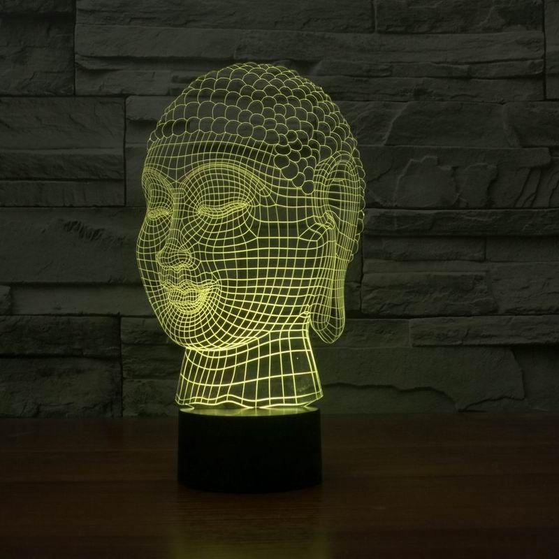 Vente chaude 3d effet bouddha forme tactile lampe FS-2929